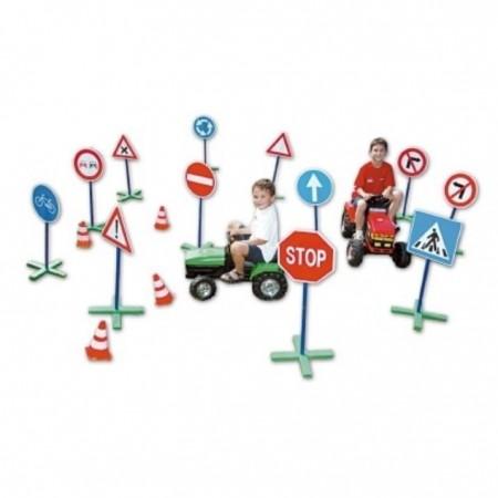 Kit de 12 panneaux de signalisation