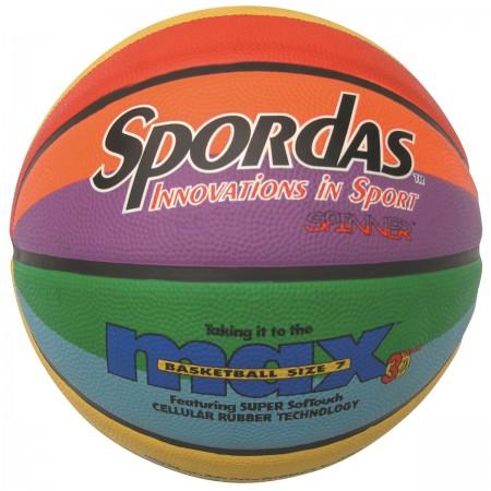 Ballon de basket Max arc-en-ciel T.5