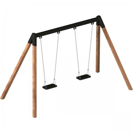 Double balançoire sécurité
