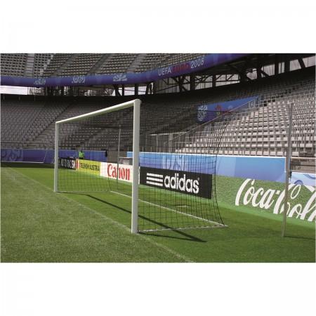 But de football Stade - blanc - coins soudés