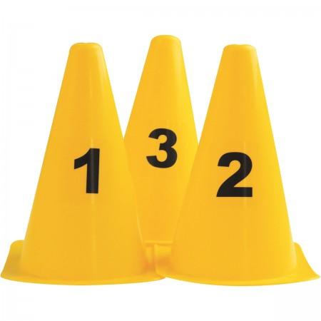 Lot de 10 cônes numérotés