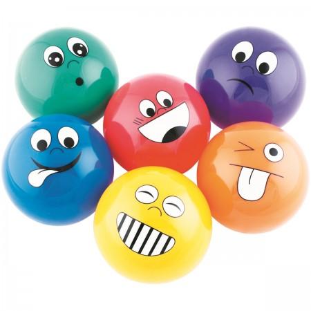 Lot de 6 petites balles émotions 10cm