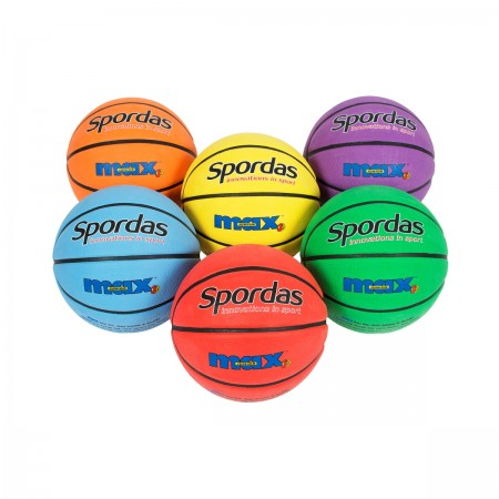 Lot de 6 ballons de basket Spordas Max couleur