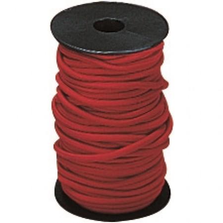 Bobine d'élastique rouge