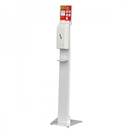 Station de désinfection des mains avec distributeur automatique