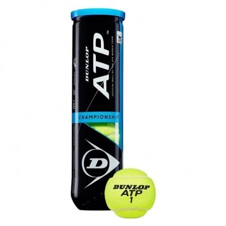 Tube de 4 balles de tennis DUNLOP ATP Championship