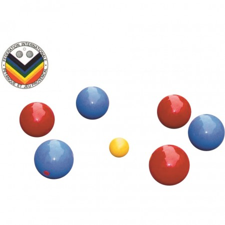 Kit de 6 boules de pétanque en PVC