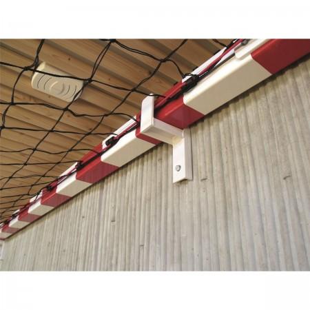 Râtelier de rangement pour but de handball