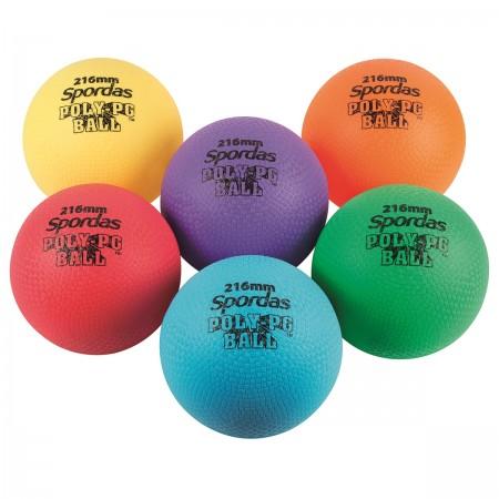 Lot de 6 poly-ballons colorés
