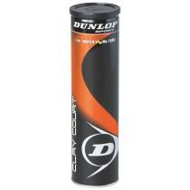 Tube de 4 balles de tennis Dunlop Clay Court