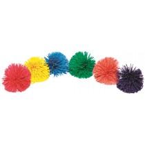 Lot de 6 balles Pompon