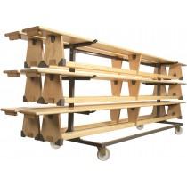 Chariot de transport pour bancs de gymnastique (max.400cm)