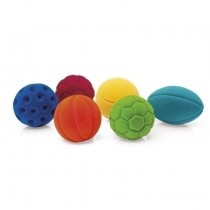 Lot de 6 balles de sport Rubbabu