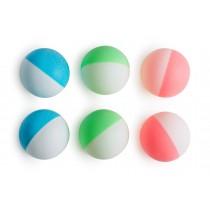 Lot de 6 balles de tennis de table bicolores