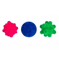 "Lot de 3 balles ""anti-stress"""