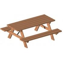 Table et bancs pique nique