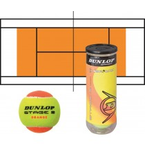 Tube de 3 balles de tennis DUNLOP Stage 2