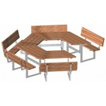 Table et bancs pour école
