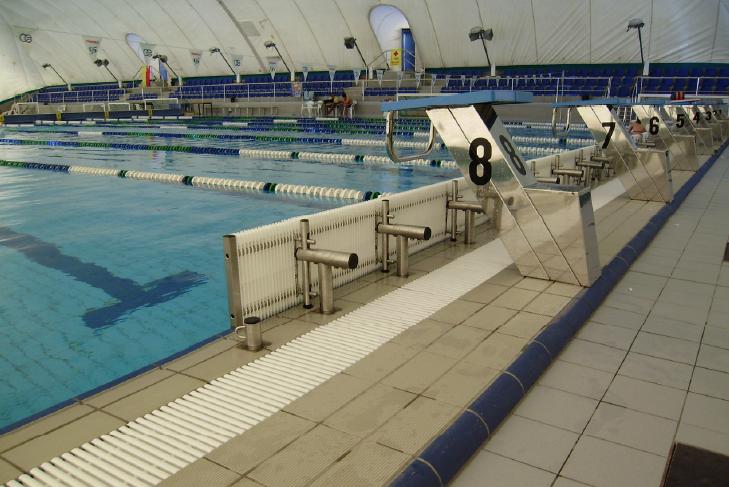 équipement de piscine ligne virage-dos
