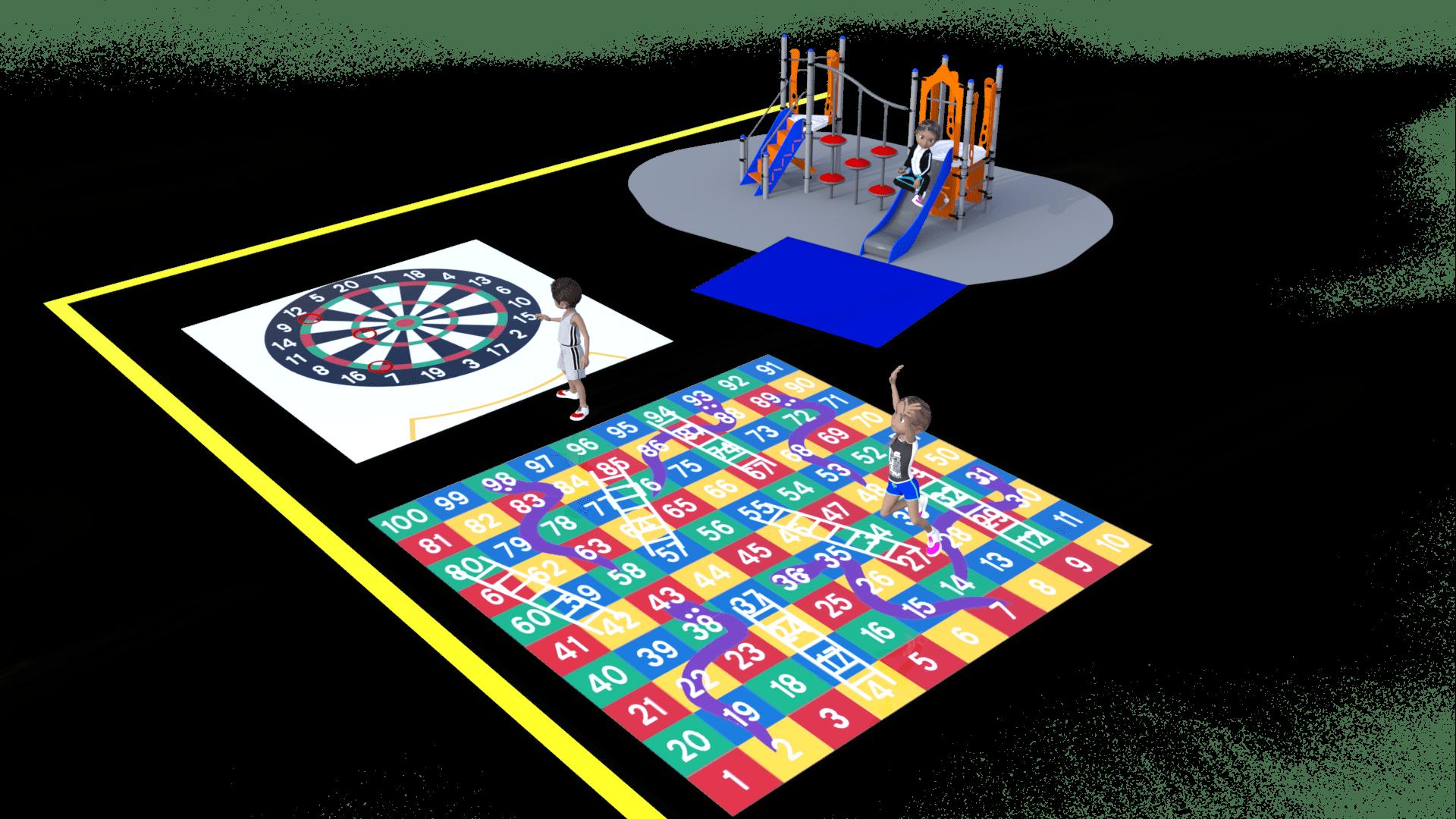 jeux au sol cour de recreation