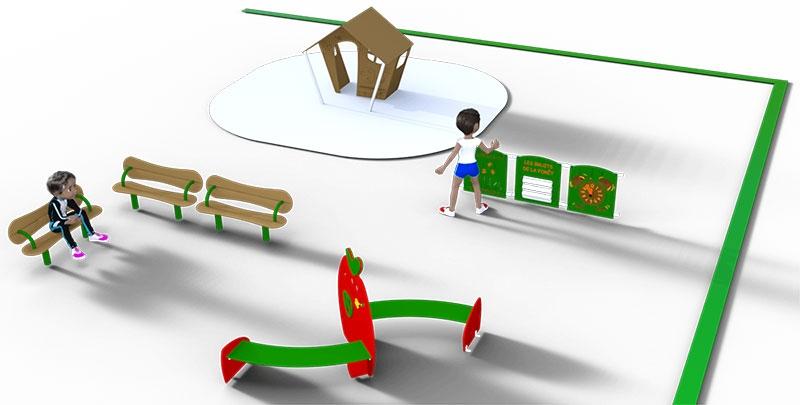aménagement cour de récréation maternelle