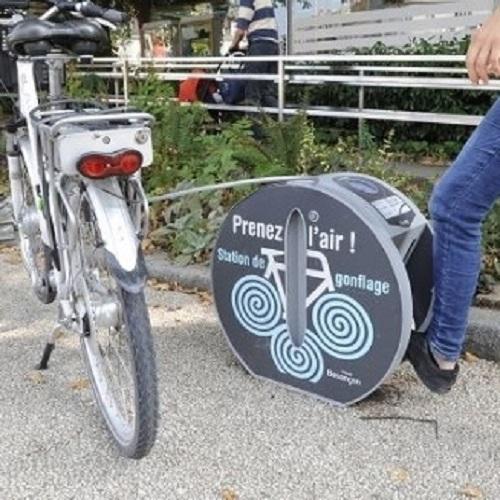 station de gonflage Altinnova pour pneu de vélo