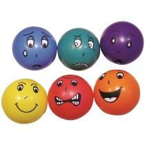 Jeu de 6 ballons émotions 20cm