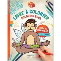 Cahier de coloriages et mandalas de postures de yoga