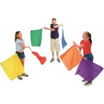 Jeu de 6 drapeaux rythmiques 50cm