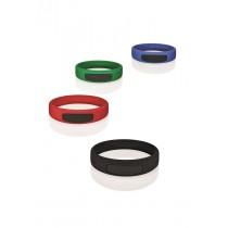 Bracelet silicone RFID rouge