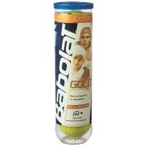 Tube de 4 balles de tennis Babolat Gold