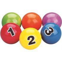 Jeu de 6 balles à jongler numérotées