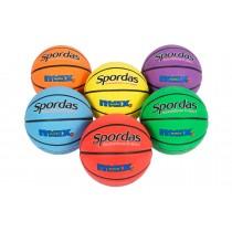 Jeu de 6 ballons de basket Spordas Max couleur