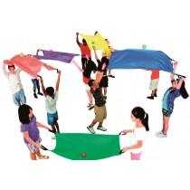 Parachutes 2 personnes - jeu de 6