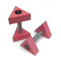 Paire d'haltères triangles