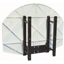 Support pour panneau basket en matériau composite
