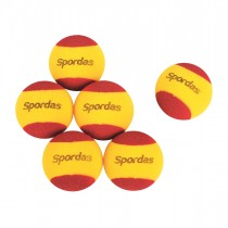 Lot de 6 balles de tennis en mousse