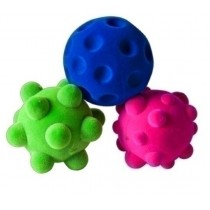 Lot de 3 mini balles sensorielles Rubbabu