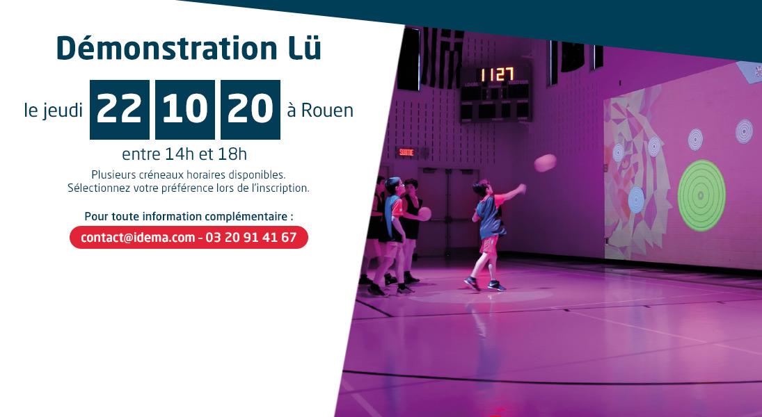 Démonstration Lü - gymnase interactif - à Rouen le 22/10/20