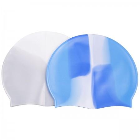 Multicolor silicone zwemmuts voor volwassenen