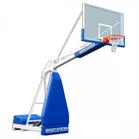 Mobiel basketbaldoel Hydroplay met overhang 225cm