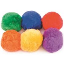 Set van 6 fleeceballen