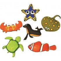 Set van 6 verzwaarde dieren