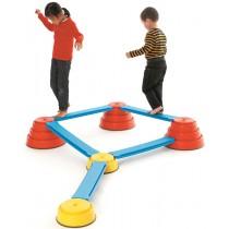 Op te bouwen evenwichtsparcours