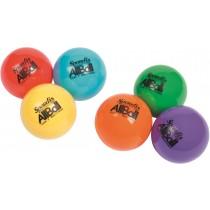Set van 6 gekleurde multifunctionele ballen