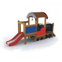 Locomotief met glijbaan