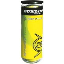 Koker met 3 beach-tennis ballen Dunlop
