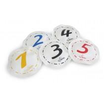Set van 5 verzwaarde cijfers