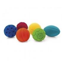 Set van 6 Rubbabu-sportballen