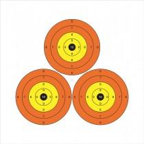 Set van 10 doelwitten 'Trispot'
